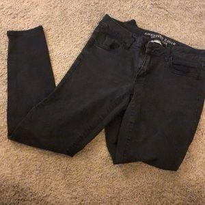 Black Super Stretch American Eagle Skinny Jeans